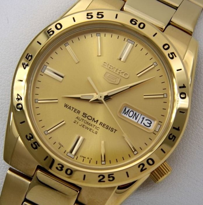 "Seiko - Unisex Automatic 21 Jewels ""Gold"" - ""NO RESERVE PRICE"" - Unisex - 2018"
