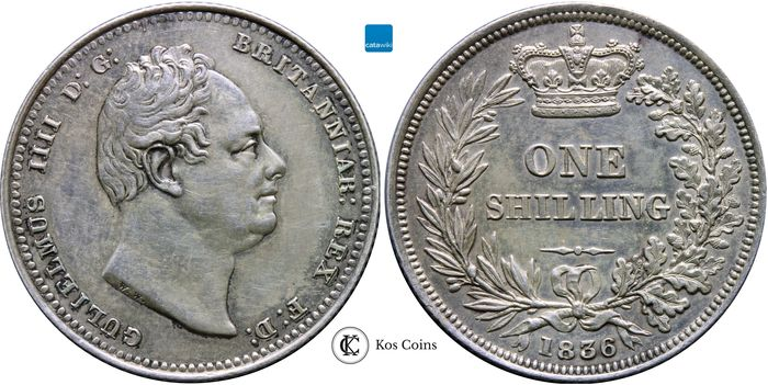 Great Britain - Shilling King William IV, 1836 - Silver