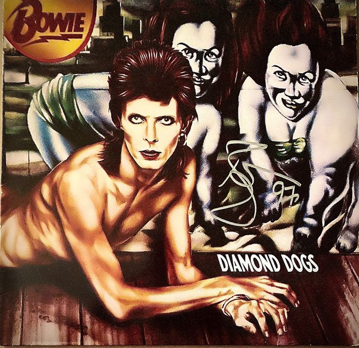 David Bowie - Bowie Signed-Autographed LP Diamond Dogs - LP Album - 1974/1981