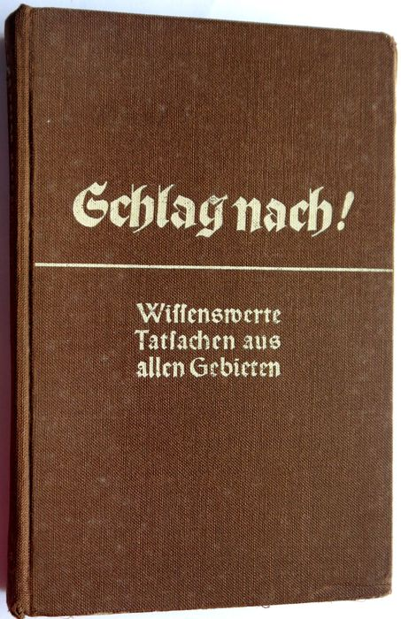 Germany - Book, Blow after LEXICON Facts worth knowing from all areas - 1938