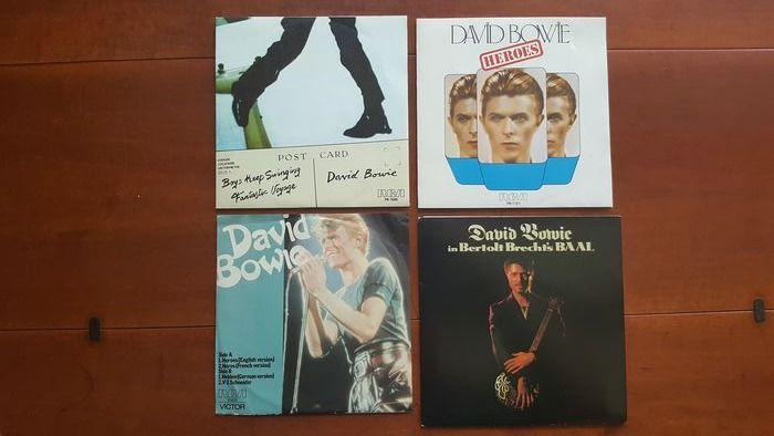 """David Bowie - 2 very Rare 7"""" singles and 2 very Rare 7"""" EP's - Multiple titles - 45 rpm Single - 1974/1987"""