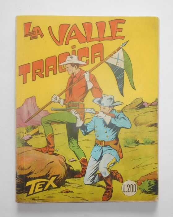 """Tex n° 33 - """"La Valle Tragica"""" - Stapled - First edition - (1963)"""