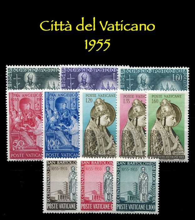 Vatican City 1955/1980 - Complete collection of regular mail - Sassone