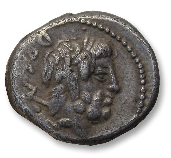 Roman Republic. L. Rubrius Dossenus, 87 BC. AR Quinarius,  Rome mint - quite beautiful for the type