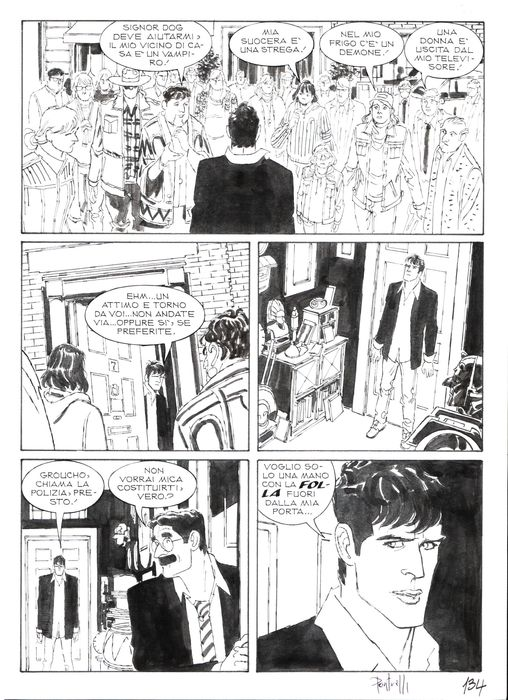 "Dylan Dog n. 23 - Tavola Originale ""a volte non ritornano"" - Loose page - First edition - (2015)"