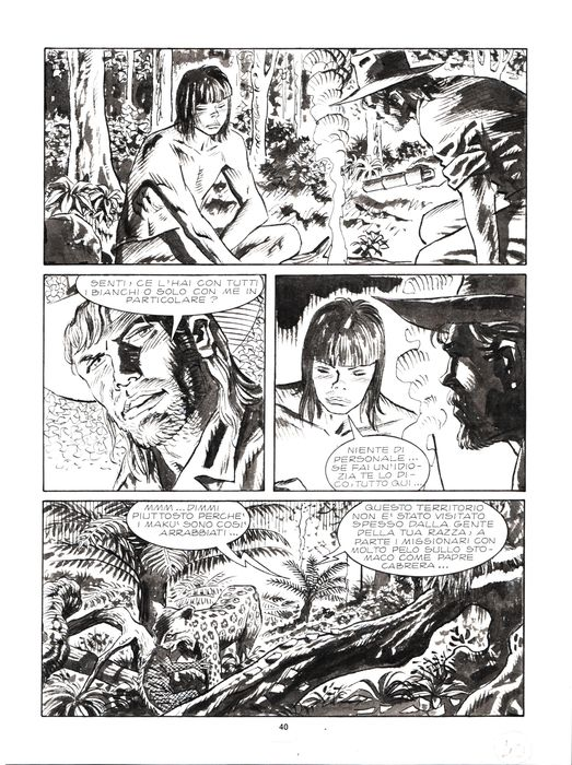 "Mister No n. 306 - Tavola Originale ""la notte del sacrificio"" - Loose page - First edition - (2000)"