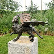 Statue  - Dragon - Gepatineerd brons