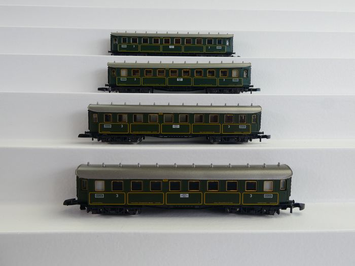 Märklin Z - 8730 - Passenger carriage - 4x 4-axle express train passenger car - K.Bay.Sts.B