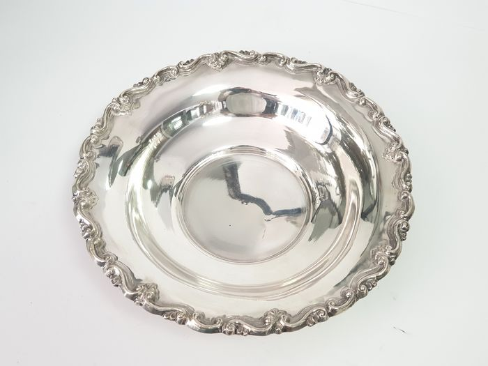 Basket, Bowl - .833 silver - Portugal - Mid 20th century