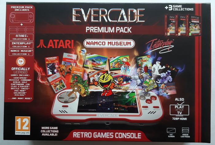 Evercade Premium Pack - with 37 fully licensed games - Στην αρχική του συσκευασία