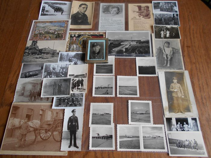 Germany - Wehrmacht + Reichswehr - Collection of photos and cards mostly 1 + 2 WW