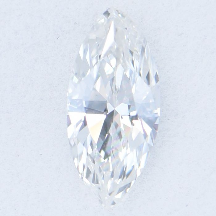 1 pcs Diamond - 0.63 ct - Marquise Brilliant - G - VS2     GIA Certified