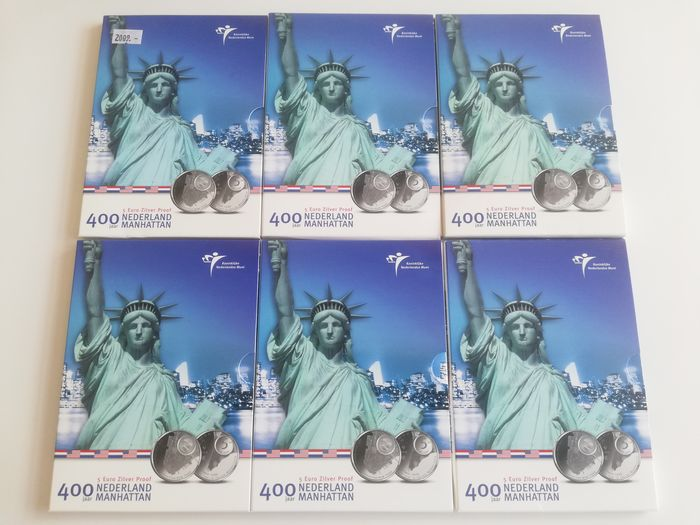 The Netherlands - 6 x 5 Euro 2009 Manhattan in blister - Silver