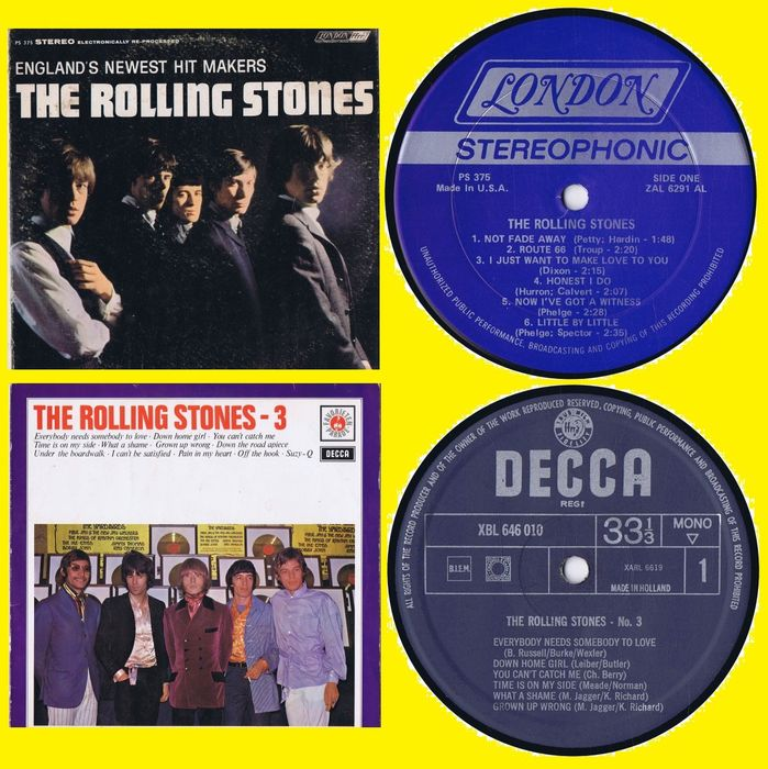The Rolling Stones - 1. England's Newest Hit Makers 2. No.3 - Multiple titles - LP's - 1964/1965