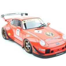 GT Spirit Asia - 1:18 - Porsche 993 RWB Jagermeister #7 Orange - Limited edition  1 of 450