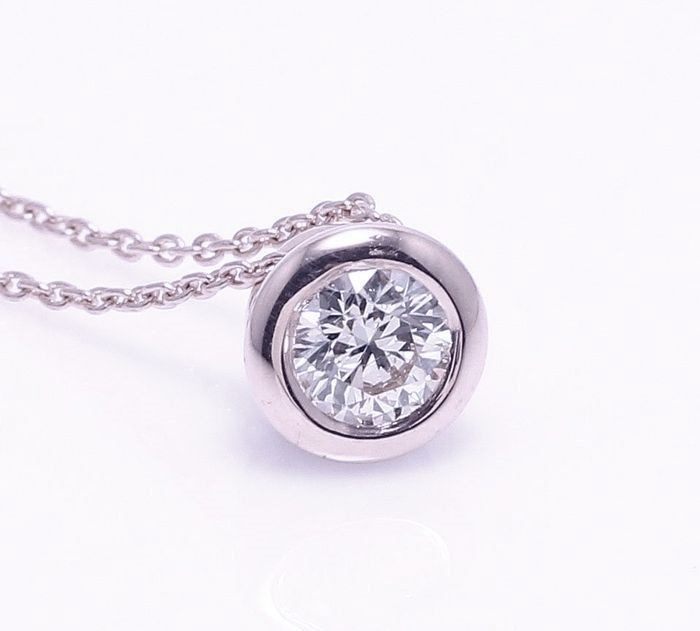 14 kt. White gold - Pendant - 0.35 ct Diamond