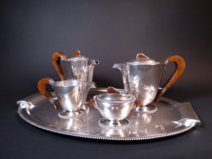 Coffee and tea service (5) - Silver - Italy - First half 20th century