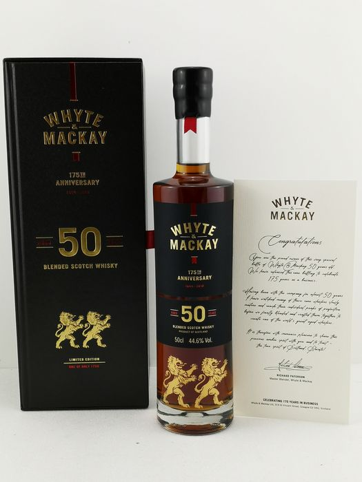 Whyte & Mackay 50 years old 175th Anniversary - Original bottling - 50cl