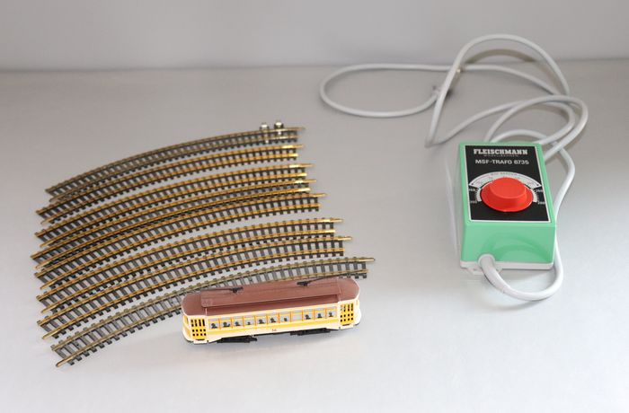 Bachmann, Fleischmann H0 - Train set - Tram with rail circle and transformer