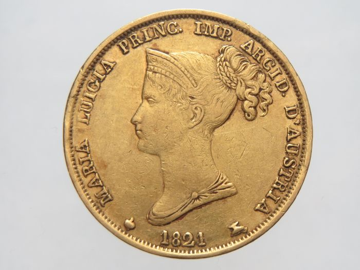 Italy - Duchy of Parma and Piacenza - 40 Lire 1821 - Maria Luigia - Gold