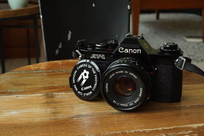 Canon AV-1 1982 football edition with fd 50mm f1.8
