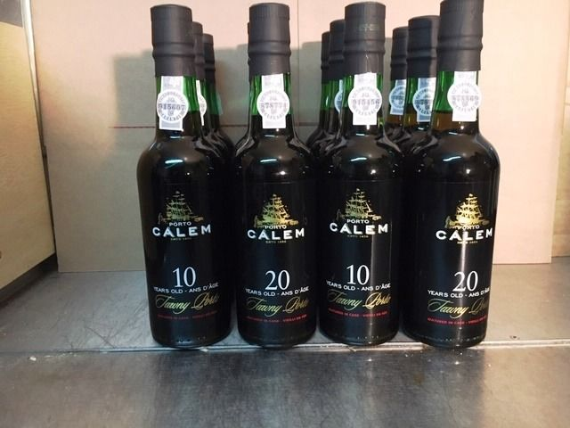 Calem: 6x 10 & 6x 20 years old Tawny Port 20 years old Tawny - 12 Half Bottles (0.375L)