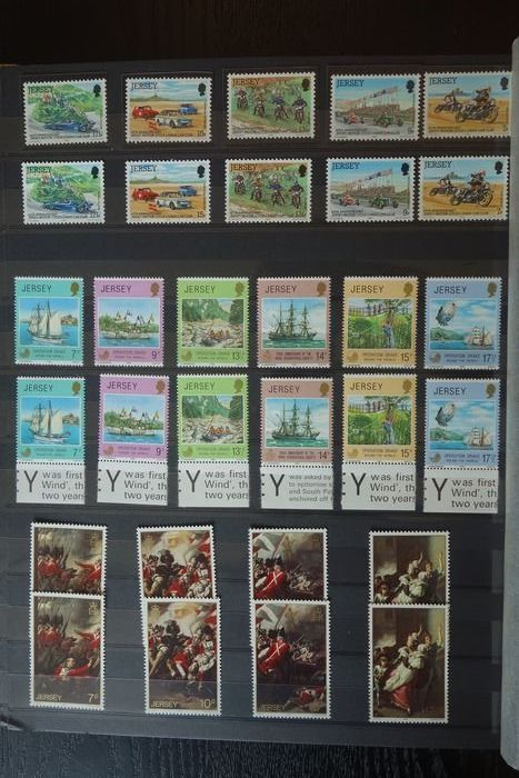 Jersey - Luxury MNH collection in a stock book, period 1972-1989