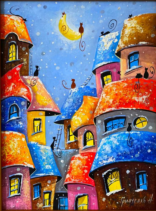 Nataly Grinchenko - Big moon in the city cat.