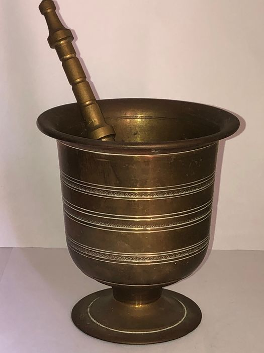 large bronze mortar with pestle - Italy (2) - Bronze - 20th century