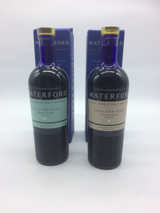 Waterford Bannow Island Edition 1.1 & Ballykilcavan Edition 1.1 - Original bottling - 70cl - 2 bouteilles