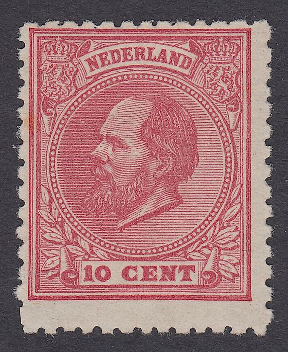 Netherlands 1872 - King Willem III, comb perforation 11½ : 12 small holes - NVPH 21E