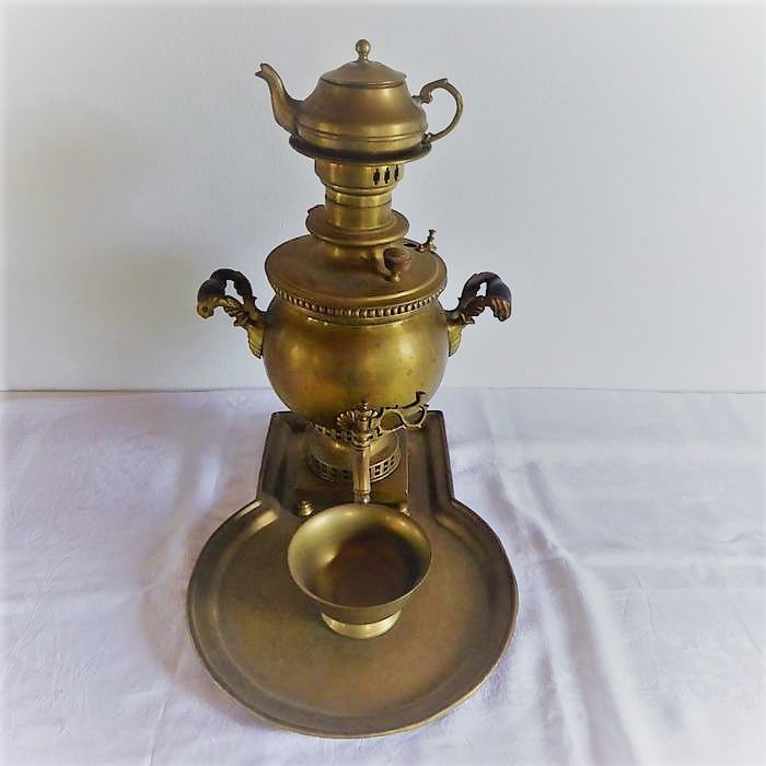 Samovar with tray - Copper