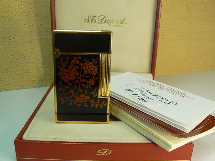 Dupont ligne 2 - Laque de Chine (rare ) - Pocket lighter - Complete collection