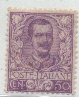 Italien 1901 - Kingdom: Floral 50 cents - Sassone 76