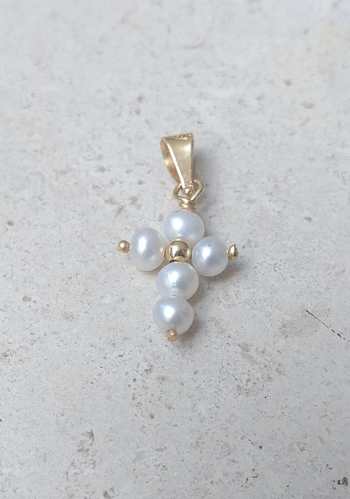 18 kt. Gold - Pendant Pearl