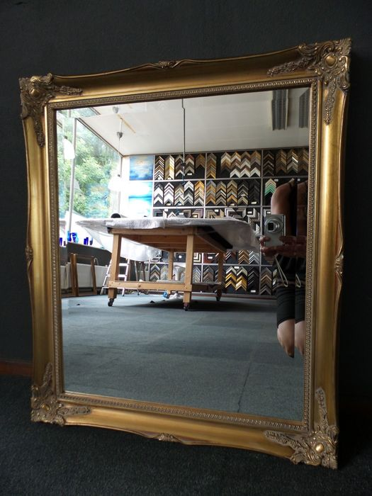 Large Mirror with faceted glass - Lodewijk XVI-stijl