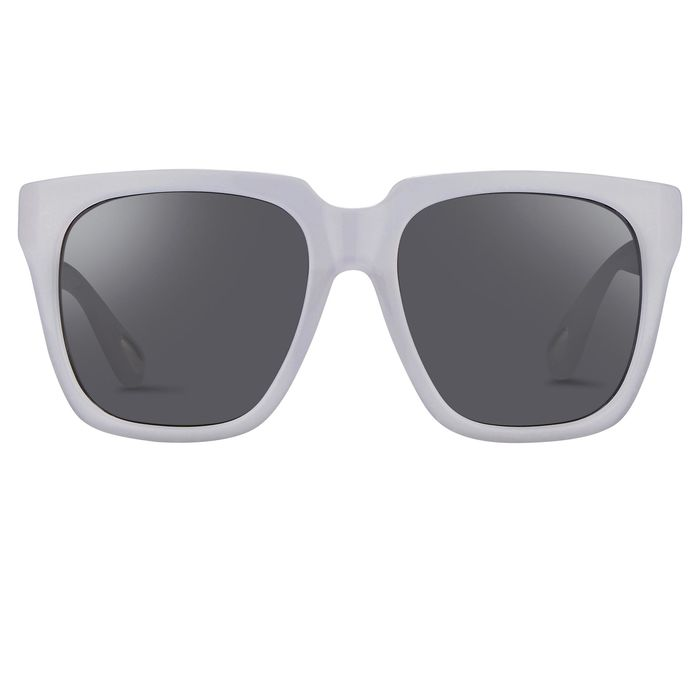 "Ann Demeulemeester - Oversized White with Grey Lenses 925 Silver AD21C4SUN ""NO RESERVE PRICE"" Sunglasses"