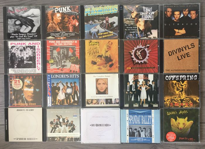 Various Artists/Bands in New Wave, Various Artists/Bands in Punk - Diverse artiesten - Diverse titels - CD's - 1977/1997
