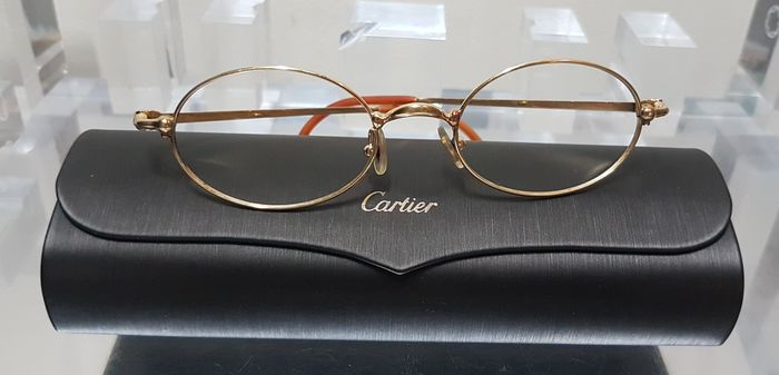 Cartier - Paris Trinity Gold Frame Oval 47□19 130 Glasses
