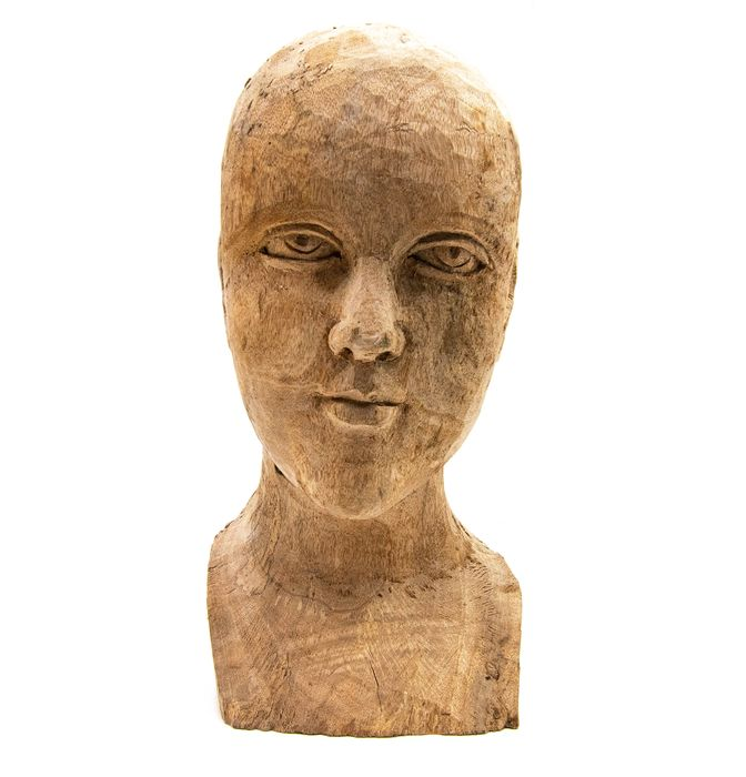 Saint, carved wood mannequin bust - Wood - Second half 18th century