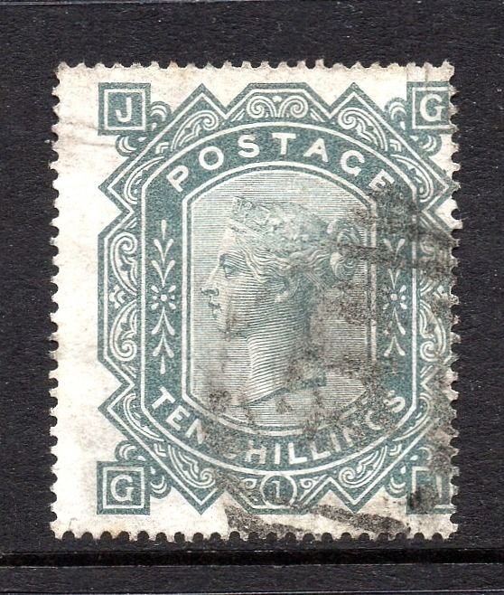 Great Britain - 1878 10/- Greenish Grey Plate 1 Wmk Maltese Cross - Stanley Gibbons SG128