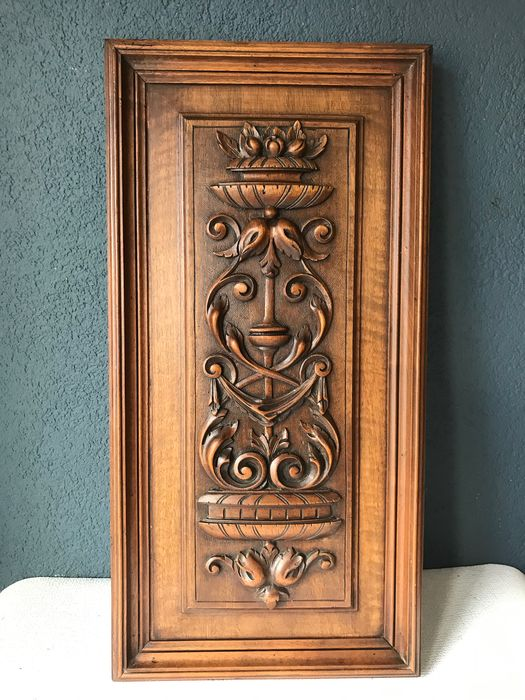Wood carving panel - Walnut - about 1900