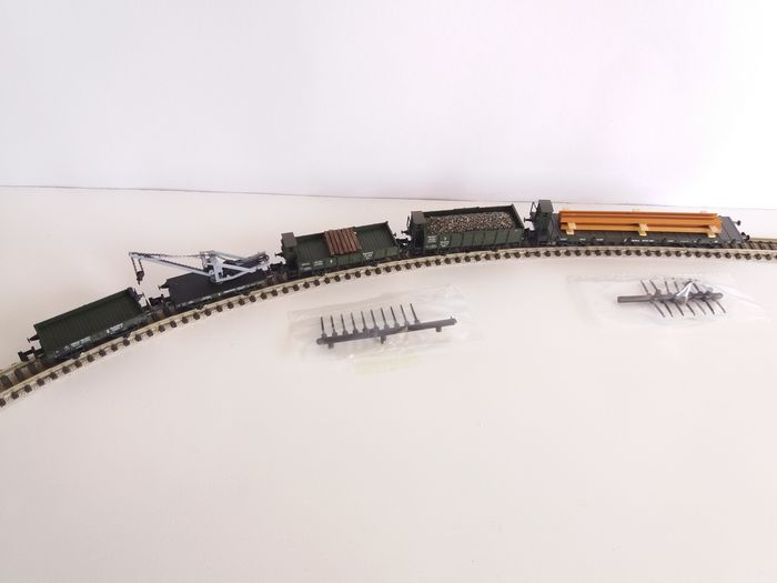 Trix N - 15000 - Freight wagon set - Construction train from time period I. - K.Bay.Sts.B
