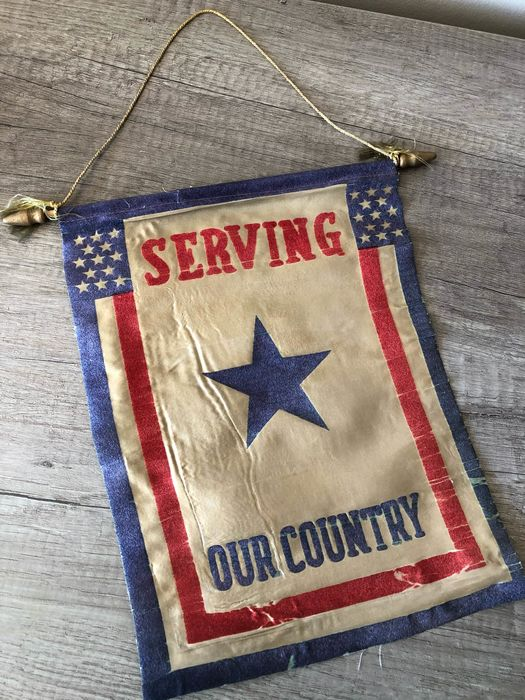 "United States of America - US WWII Flag / Banner ""Serving our Country"""