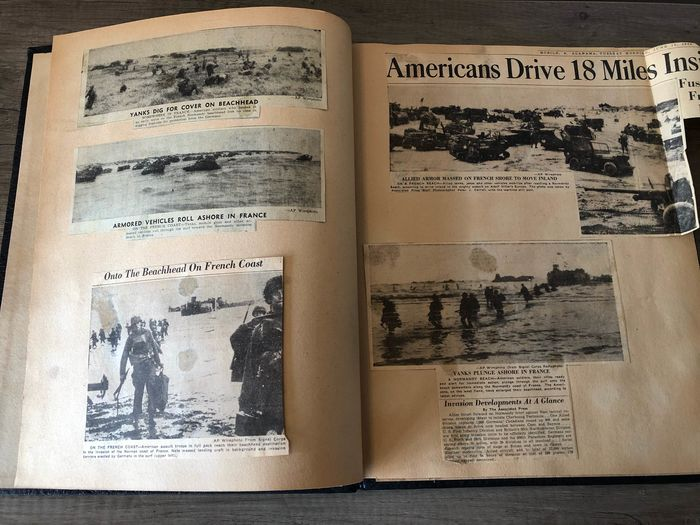 United States of America - Scrapbook D-Day June 1944 newspaper articles