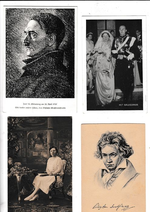 Belgium, France, Germany, Netherlands - Fantasy - Famous people - Postcards (Collection of 298) - 1930