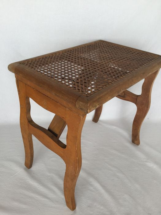 Fisherman's chair / folding chair made of wood and braided seat - Biedermeier style - Wood - CA 1900