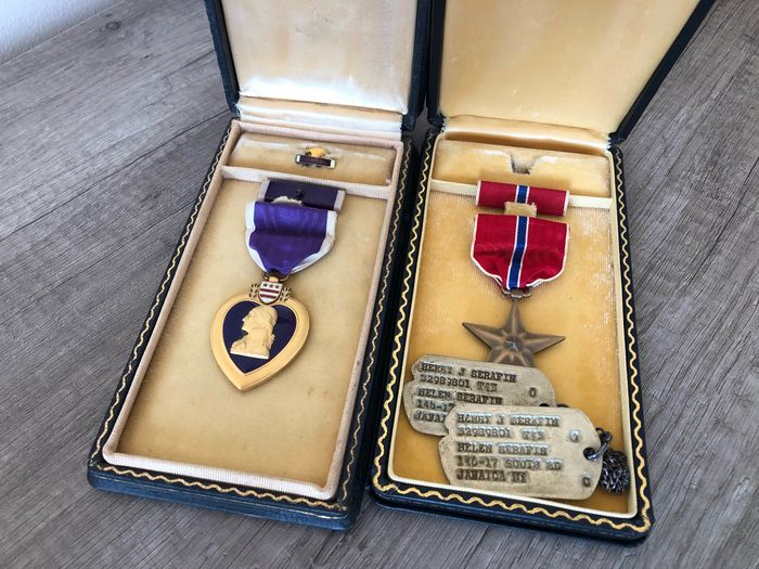 United States of America - US WW2 Purple Heart / Bronze Star / Dogtags grouping - NO RESERVE PRICE