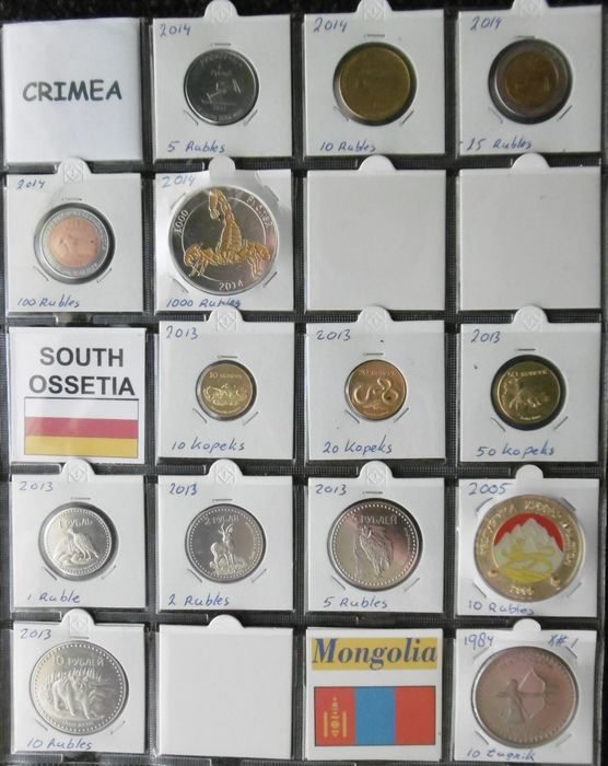 World - 1984-2014 various countries (14 pieces)
