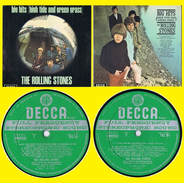 The Rolling Stones - Big Hits [High Tide And Green Grass] - LP Album - 1966/1966